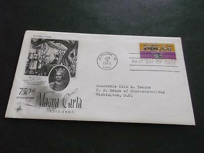 Usa 1965 Cover Fdc To C. Teague Us House Of Representative    Rs