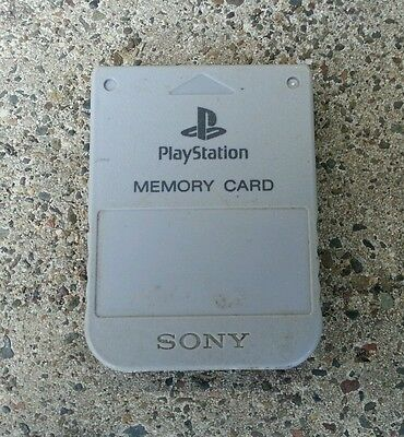 Genuine Original Sony Playstation 1 PS1 Memory Card