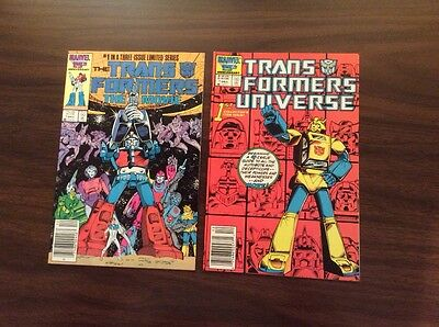 Lot (2) Marvel Comics, Transformers Universe #1, The Transformers The Movie #1