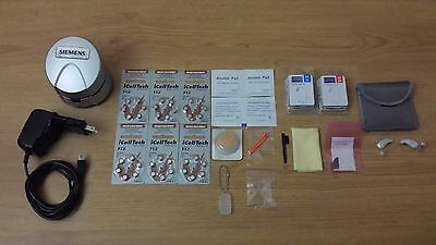 2 x New SIEMENS PURE 7bx BINAX Hearing Aids for Apps +eCharger.FREE PROGRAMMING!