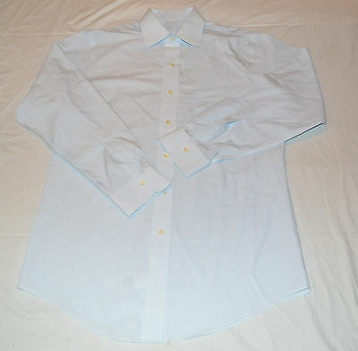 New Brooks Brothers Men's 15 - 32 Blue & White Striped Spread Collar Dress Shirt
