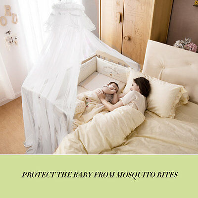 Baby Bedding Crib Mosquito Net Portable Size Round Toddler Mosquito Mesh Net LM