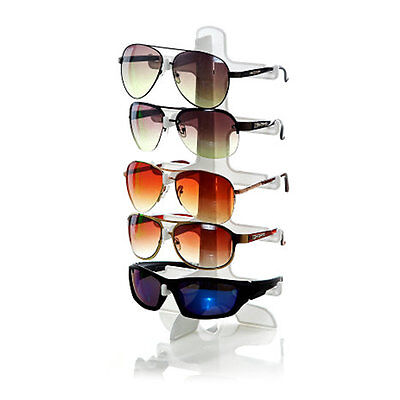 5 Layers Glasses Show Stand Frame Display Rack Colorful Black White Clear L