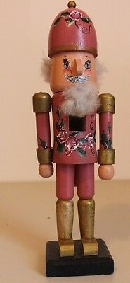"Wooden Nutcracker, One of a Kind, Hand-Painted and Signed, 10"" Tall"