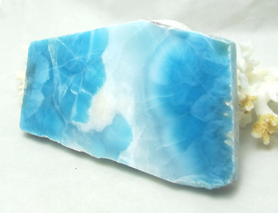 AAA BEAUTIFUL NATURAL LARIMAR POLISHED SLAB - 111 grams -