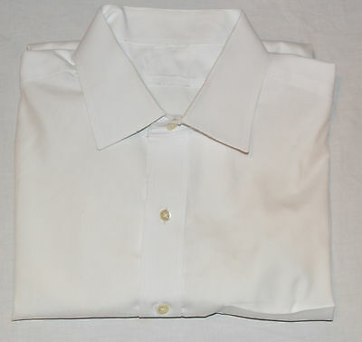 Brooks Brothers Mens Milano Extra Slim 16 33 White Spread Collar Dress Shirt