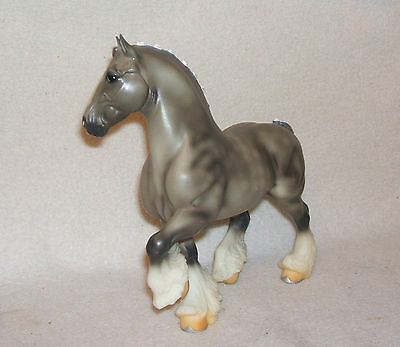 Vintage Retired Breyer Classic DAPPLE GREY SHIRE DRAFT HORSE - No Damage!