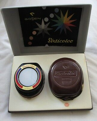 Gossen Sixticolor (Day/Incandescent) Light Meter Case box and Manual Very clean