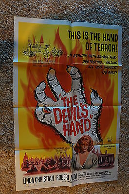 Devil's Hand  Voodoo  Horror   One Sheet  1961