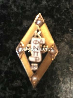 Kappa Alpha Psi Fraternity 10K 1-Diamond; 4-Pearls Membership Badge Pin 40s
