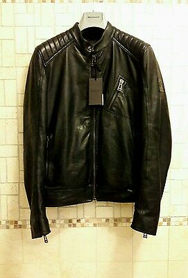 Belstaff V Racer Leather Jacket Size 48 Black Nuovo! € 900.. Giacca In Pelle