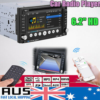 """6.2"""" Touch Screen Double 2 DIN Car DVD Player Stereo Radio GPS Bluetooth CD DVD"""