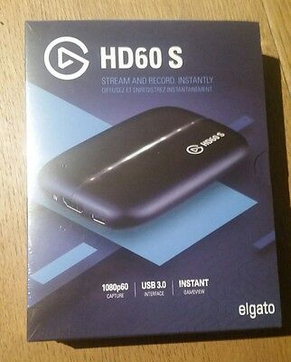 Brand New Sealed Elgato Game Capture HD60S H.264 HW 1080P 60fps Mac Windows