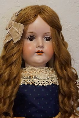 Extra Long Human Hair Wig For Antique Bisque Porcelain Doll