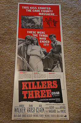 Killers Three  Aip Robert Walker Dick Clark Crime  Insert  1968
