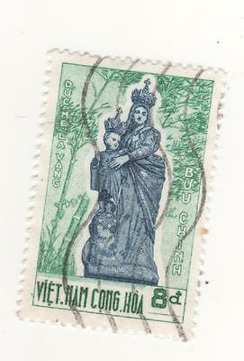 1962 South VIETNAM 8p. blue & turquoise ST. MARY OF LA VANG COMM. SG#S176 USED