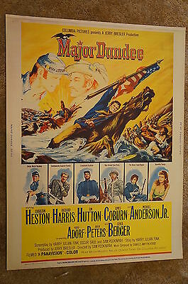 Major Dundee  Sam Peckinpah  Charlton Heston  Western  Civil War   30X40 1965