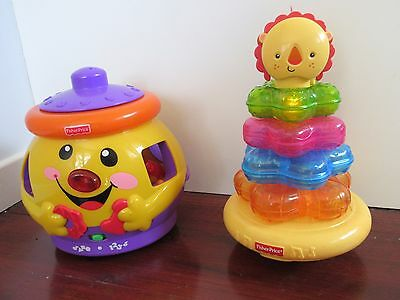 Fisher Price Laugh and Learn Cookie Jar and Light-up Lion Ring Stacker