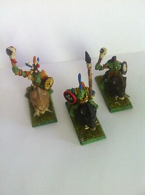 Warhammer Fantasy Army Rare OOP Metal Orc Boar Boyz Well Painted Age Of Sigmar !