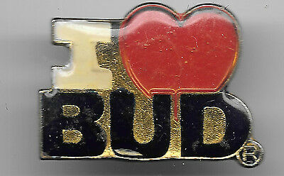 Vintage I (the symbol heart meaning love) Bud old enamel pin
