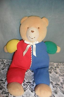 Eden Thermal Primary Red Blue Green Waffle Stuffed Plush Bear Baby Toy Animal