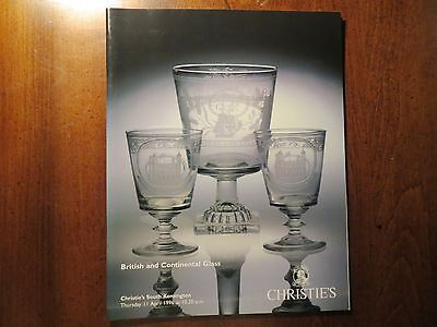 1996 CHRISTIE'S AUCTION CATALOG - British & Continental Glass