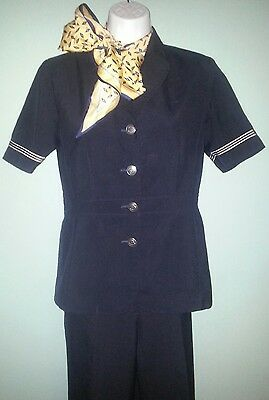 SZ. 2P American Airlines Flight Attendant's discontinued AA crew Uniform & scarf