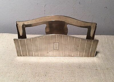 Tiffany & Co. Antique Sterling Silver Desk Letter Holder