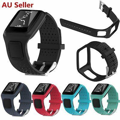 Silicone Wrist Strap Band for TomTom1 Runner Cardio/Multi-Sport GPS HRM Watch AU