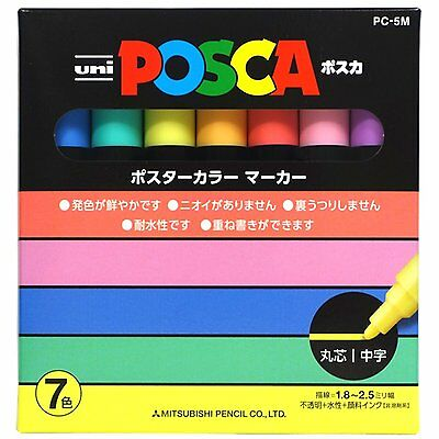 Uniball Posca PC-5M 7 Natural colour Marker set