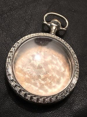 AM.POCKET WATCH CASE for American Size 18 Movement ENGINE TURNED Rare USA