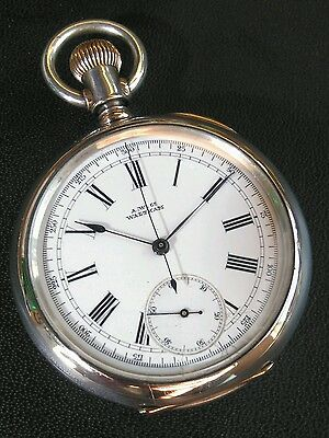 Rare&unique 1884 American Watch Co. Waltham Usa Doctors Watch Sterling Silver