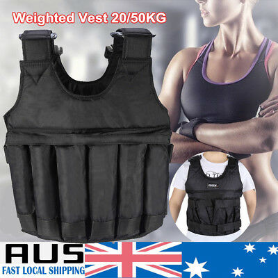 20KG/50kg Weighted Vest Adjustable Weight Vests MMA Gym Training Exercise Sport