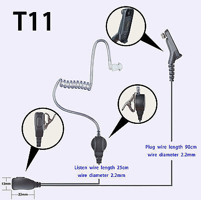 Headset Earpiece Mic for Motorola DP4000e DP4401e DP4400e XPR6500 Walkie Talkie