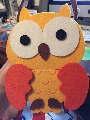 World Market Felt Owl Gift Bag Container 6in x 10in NEW NWT