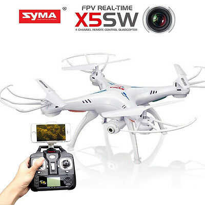 Syma X5SW RC Drone Quadcopter 2.4GHZ 4CH with Wifi FPV HD Camera UFO Gift White