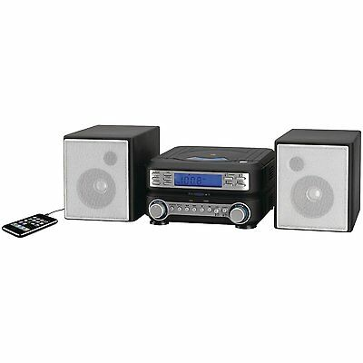 Home Audio System Stereo Compact Speakers CD Player MP3 AM/FM Radio Remote New