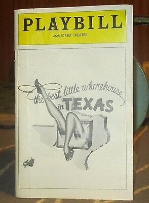 Playbill 46th Street Theatre, NY- The Best Little Whorehouse in Texas, Dec. '78!