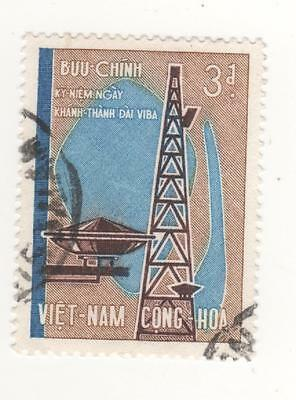 1965 South VIETNAM 3p. I.T.U. CENTENARY  postage stamp SG#S237 USED