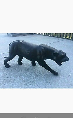 vintage stuffed leather black panther
