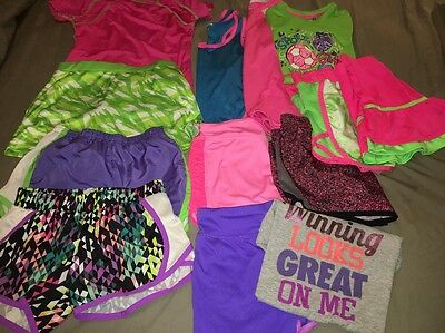 Athletic Wear Girls Size 7 8 Shorts Shirts Sports Running Clothes