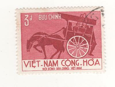 1967 South VIETNAM 3p. LIFE OF THE PEOPLE - HORSE & CARRIAGE  SG#S289 USED