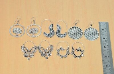 Wholesale 5Pair 925 Silver Plated Plain Long Hook Classic Earring Lot