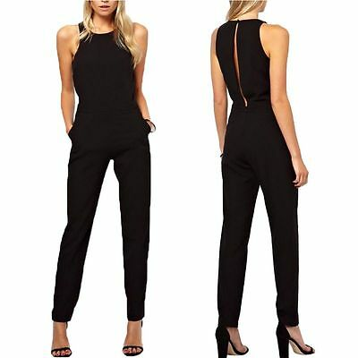 Womens Clubwear Playsuit Bodycon Party Jumpsuit Romper Long Pants Trousers S M L