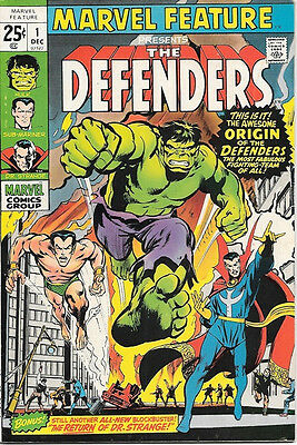 Marvel Feature Comic Book #1 First The Defenders Marvel Comics 1971 VERY FINE