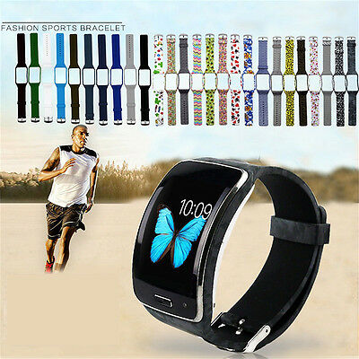 Silicone Bracelet Wrist Band Strap Replacement For Samsung Galaxy Gear S SM-R750