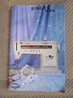 singer sewing machine instruction book 534
