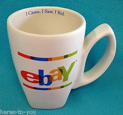 EBay Ceramic Coffee Cup/Mug~I CAME, I SAW, I BID~Old Logo
