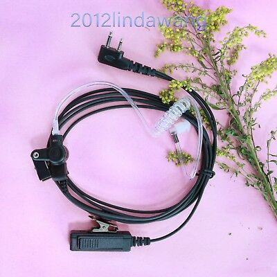Palm Mic with Earpiece Earphone for ICOM IC-F4062 IC-F34G F44G IC-F27SR Radio