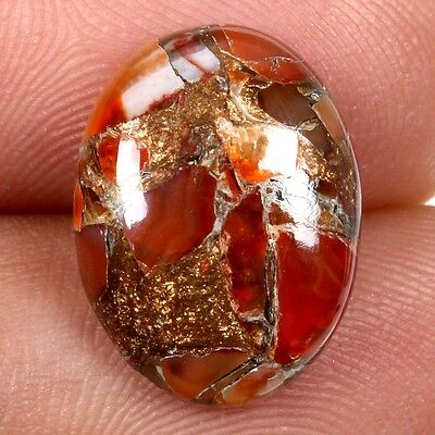 Rare CARNELIAN COPPER MOHAVE 6.5 Cts Cabochon Oval Gemstone 16x12 mm Best Price